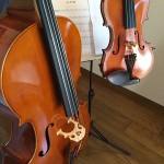 バッハ君(夫:バイオリン)と櫻田(妻:チェロ)でパッヘルベルのカノンを音足らずアンサンブル♪