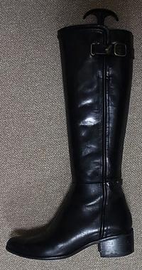 ブラックロングブーツ7cm