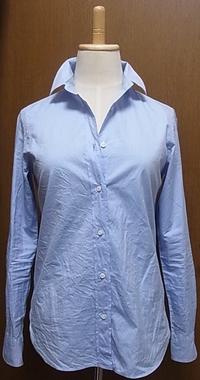ブルーコットンシャツ