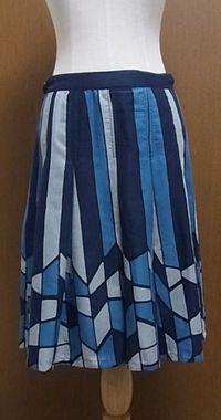 ブルーステンドグラススカート