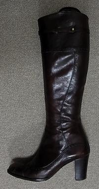 ダークブラウンロングブーツ4.5cm