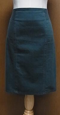 グリーンコットンタイトスカート