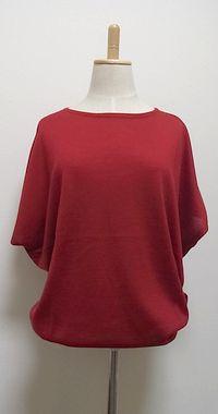 X この色を着る気になれなかった。カットソーやシャツと合わせて着てもなんかヘン。一枚だと袖から中見え&夏は暑いけど秋は寒い。