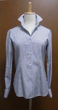 X デザイン性(襟や袖)の高い、バブルっぽいシャツ。着こなせなかった。